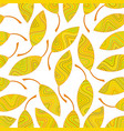 seamless pattern of yellow striped leaves vector image vector image