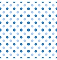 Seamless polka blue pattern vector image