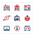 Set color icons of electrical generator vector image