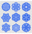 set of christmas snowflakes vector image