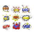 set of retro comic speech vector image