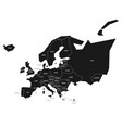 simplified schematic map of europe vector image vector image