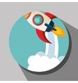 Spaceship rocket icon vector image vector image