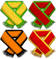 Sports Team Scarf Pack vector image vector image