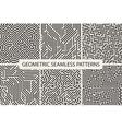 Sriped seamless geometric patterns Digital design vector image