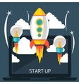 Start up rocket vector image vector image