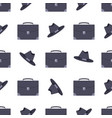 suitcase and black hat pattern vector image vector image
