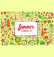 summer set doodle elements travel drawing vector image vector image