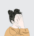 this girl is embarrassed off her face vector image vector image