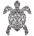 turtle tattoo vector image vector image