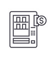 vending machines line icon sign vector image