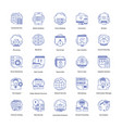 web hosting icons set vector image vector image