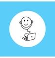 Web icon webinar vector image