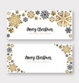 white and golden merry christmas banner background vector image