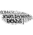wood beads jewelry supply text word cloud concept vector image vector image