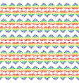 pattern with bright hearts vector image