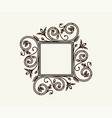 vintage border frame engraving with retro vector image