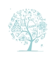 Wedding tree concept for your design vector image