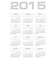Simple european 2015 year calendar vector image