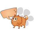 A brown dog with an empty callout vector image vector image