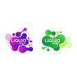 abstract liquid shape fluid design vector image vector image