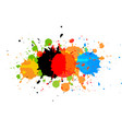 abstract paint multi color background vector image vector image