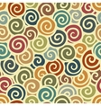 Abstract swirl seamless pattern in vintage colors vector image