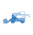 agriculture vehicle concept - cultivation seeding vector image vector image