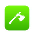 ancient ax weapon icon green vector image