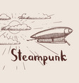 background with steampunk hand drawn vector image