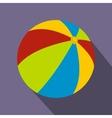 Beach ball icon flat style vector image vector image