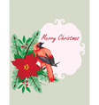 bird frame Christmas vector image