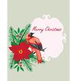 bird frame Christmas vector image vector image
