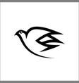 bird logo line monoline bird logo abstract vector image vector image