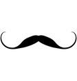 Black mustache icon vector image vector image
