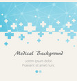 blue medical design background with crosses vector image