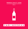 bottle of wine icon graphic elements for your vector image