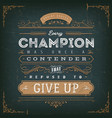 business and sport motivation quote poster vector image vector image