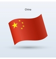 China flag waving form vector image