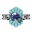 Color vintage Hockey emblem vector image