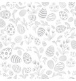 Easter egg seamless pattern floral holiday