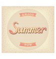 Enjoy summer now poster vector image vector image