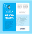 globe business company poster template with place vector image