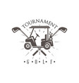 golf tournament logo vintage label for golf vector image