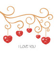 happy valentines day card happy valentines day vector image