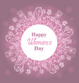 happy womens day march 8 floral wreath vector image vector image
