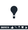 Hot air balloon icon flat vector image vector image