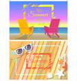 hot summer days promotional bright banners set vector image vector image