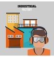 Industrial factory design vector image