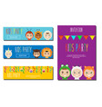 kids party banners design template children in vector image vector image